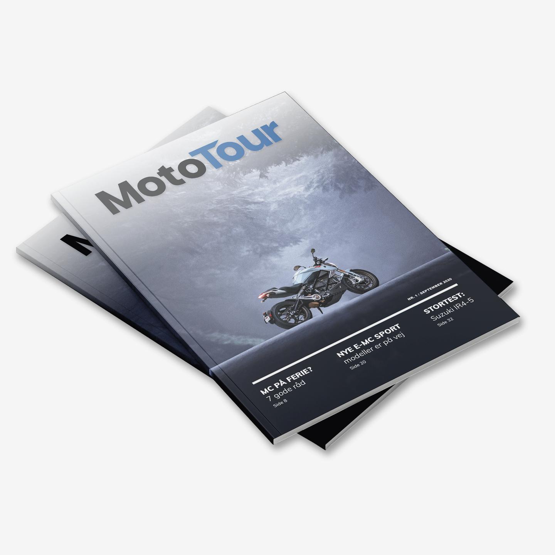 MotoTour magasinet - En del af Nikolaj Lauritsens svendeportfolio