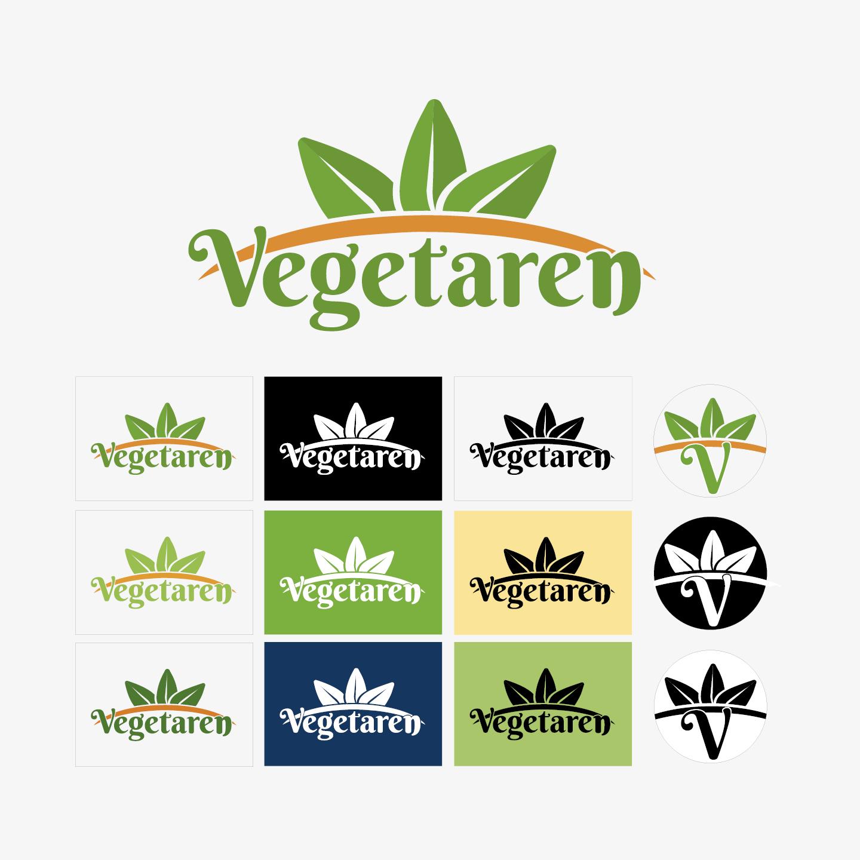 Vegetaren logoet, som er for en vegetarisk kogebog, samt kampagne. som er udarbejdet af Nikolaj With Lauritsen under uddannelsen som Mediegrafiker
